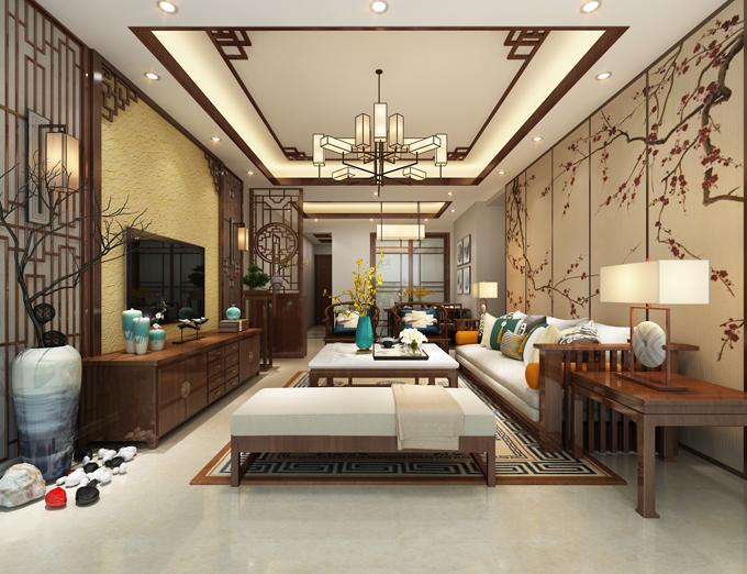 华宇花园110平米中式风格